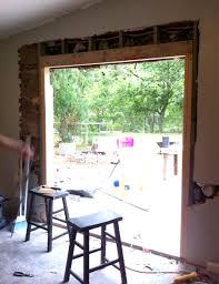 installing sliding patio door new opening saudireiki