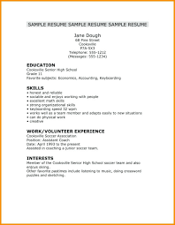 Very Simple Resume Resume Fantastic Very Simple Resume Examples Photo