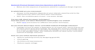 Backend Physical Design Interview Questions And Answers Gg Pdf
