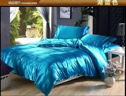 satin bedding sheets green blue silk satin bedding set super king queen full size sheets linen