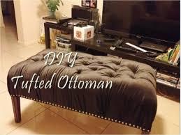 Diy Coffee Table Ottoman Diy Tufted Ottoman Bench Youtube