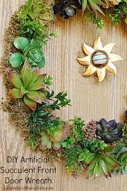 summer wreaths for front doorDIY Artificial Succulent Front Door Wreath