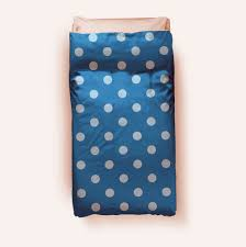 blue polka dot duvet cover
