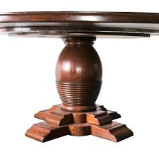 yes round guy chaddock pedestal dining table