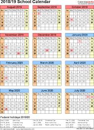 Free Printable School Calendar Calendar Year 2019 Philippines Creativeinfotech Info