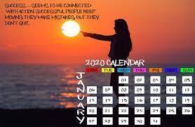 January 2020 Calendar Desktop ...