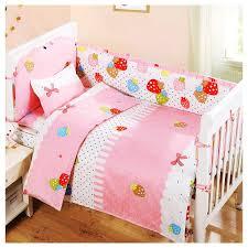 pink style 100 cotton 5pcs set baby girls crib bedding sets newborn crib per sets