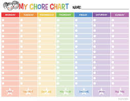 Chore Charts For Adults Printable Free Printable Chore Chart Chore Chart For Adults