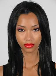 black hair and red lips created using taaz virtual makeover try on hairstyles makeup and color your own hair it s free