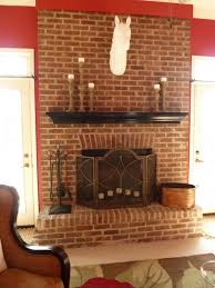 decoration interior inspiration ideas of red brick fireplace makeover ideas decorative white head horse