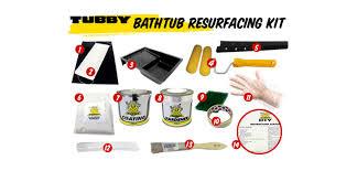 tubby diy bathtub resurfacing kit bath kit bathtub resurfacing kit process 0 tubby resurfng kit 1