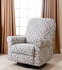 perth fabric swivel glider recliner chair