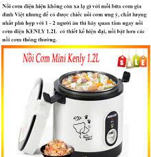 Nồi cơm điện mini kenly 1.2l có quai xách lòng rời, nồi cơm điện mini kenly  1.2l nấu cơm hâm nóng nấu cháo hàm xương, nồi cơm điện đa năng mini lòng
