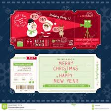 free ticket design template vector christmas party ticket card design template stock vector