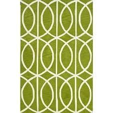 black white green area rug optics modern geometric hourglass lime