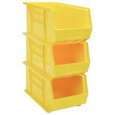Quantum Heavy-Duty Storage Bins  3-Pk., Yellow, Model#