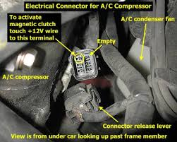stealth air conditioning troubleshooting tips ac ccompressor electrical connector