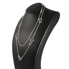 sterling silver extra long necklace