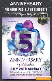 Anniversary Flyer Psd Template Facebook Cover Free