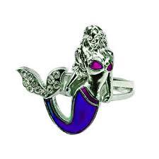 Mermaid Mood Ring With Color Chart And Organza Gift Bag