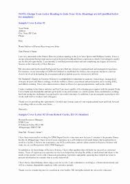 Cover Letter For Resume Example New Cover Letter Resume Examples