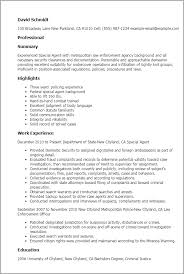 Resume Templates: Special Agent