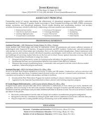 School Principal Resume Samples Resume And Vice Principal Assistant