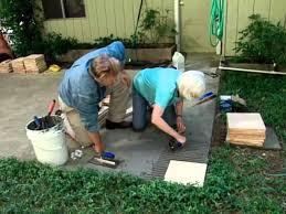 how to make a tile patio you