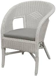 white wicker chair. Korb.outlet Bella Rattan Chair In White With Cushion \u2013 Stacking Armchair Made Of Natural Wicker