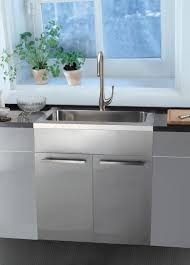 stainless steel sink base cabinets kitchen san francisco by dawn