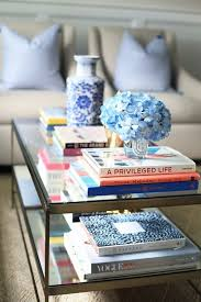decorate your coffee table with books
