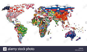 Design A Country World Map And All National Circle Country Flags 3d Design