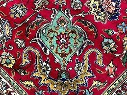 wool rug hand knotted antique oriental red teal turquoise green area vintage pink blue