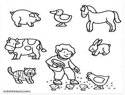 Farm Animal Colouring Pages Printable Cute Coloring Kids Animals