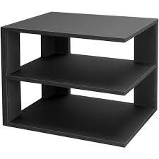 3 tier desktop corner shelf black image