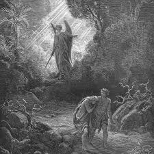 adam and eve are driven out of eden by gustave dore 1866