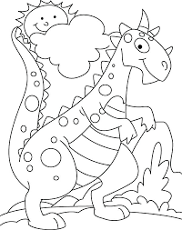 Cute Dinosaur Coloring Pages Baby Dinosaur Coloring Pages Dino To