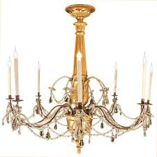 italian 18th century giltwood and crystal chandelier for
