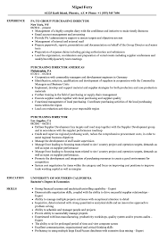 Resume Purchasing Purchasing Director Resume Samples Velvet Jobs