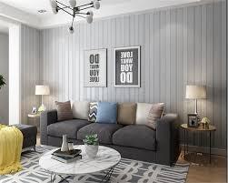 Beibehang Modern Minimalist 3d Vertical Bar Nonwoven 3d Wallpaper