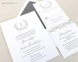 Laurel Wreath Wedding Invitations Paperwhites Wedding Invitations