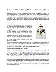 The Meaning Behind Dream Catchers Extraordinary Help Your Children From Nightmares With Dream Catchers By