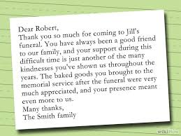 Thank You Note After Funeral To Coworkers Write A Thank You Note After A Funeral Funeral Thank You