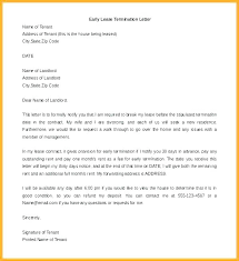 Notice Of Lease Termination Letter From Landlord To Tenant Military Lease Termination Letter To Landlord Notice End 30 Day