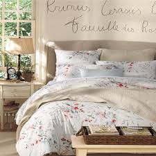 home textile new elegant french style 100 luxury egyptian cotton bedding sets flowers and birds queen king size duvet cover pillowcas super king bedding