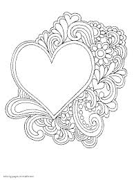 Heart Print Out Coloring Pages Printable Heart Coloring Pages