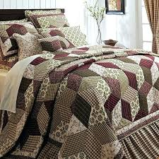 country quilts twin size burdy green country paisley block twin queen cal king size quilt bedding