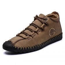 <b>SENBAO Men</b> Solid Color <b>Boots</b> Dark Khaki EU 44 Casual <b>Shoes</b> ...