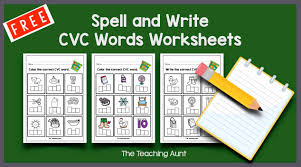 A set of cute worksheets to use when learning cvc words. Cvc Words Worksheets For Kindergarten The Teaching Aunt