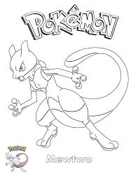 Print and color this picture and when you are done. Mewtwo Coloring Pages Printable Free Pokemon Coloring Pages